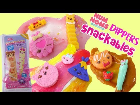 Num Noms Dippers Rare Birthday Cake Slime Color Change   Unboxing and Review