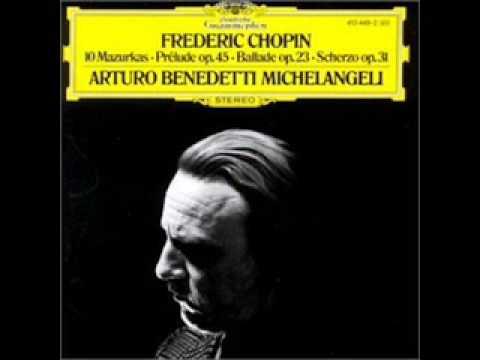 Michelangeli  Chopin  Mazurka  Op.  67 No. 2