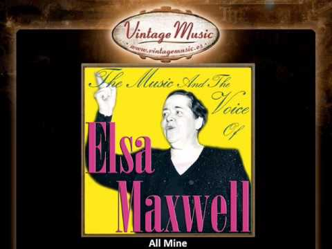 ELSA MAXWELL CD Vintage Vocal Jazz. His The Music & His The Voice , All Mine ..