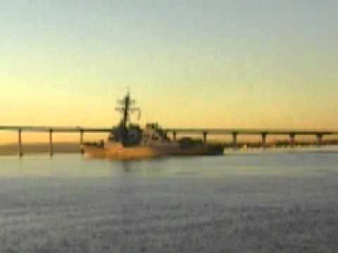 U. S. N.   Warship # 83  Returns to 32nd Street Naval Station