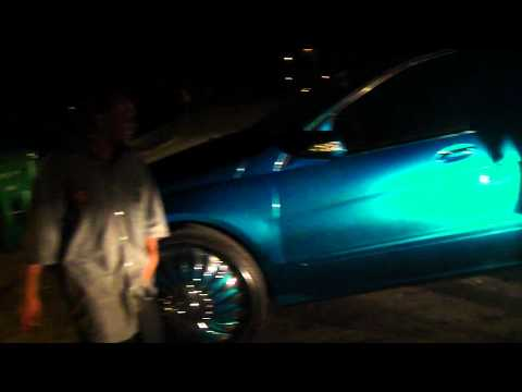 "CANDY TEAL BENZ R350 ON 28"" DUB RIMS!!!! WEETTTNEESS!!!"