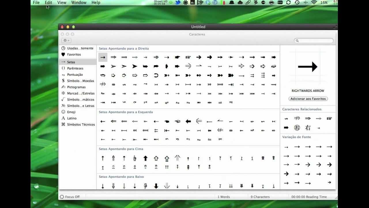 Mapa De Caracteres Mac.Dicas De Digitacao No Mac Os X