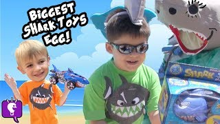 Worlds Biggest SHARK Attack! SURPRISE Toys + Real Sharks Octonauts Pool Side Fun by HobbyKidsTV