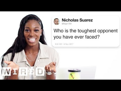 Sloane Stephens Answers Tennis Questions From Twitter | Tech Support | WIRED