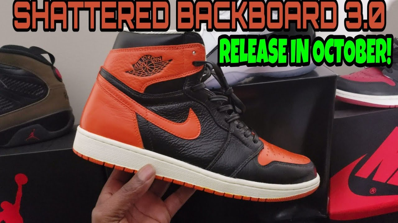 d07983829ea163 Air Jordan 1 Shattered Backboard 3.0 2019! First review on YouTube! Release  in October 2019 4K