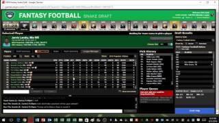 Live 2016 Fantasy Football 12 Team PPR Draft