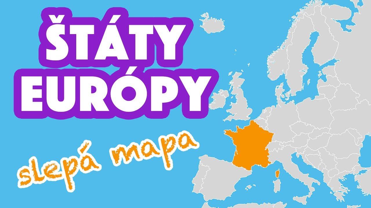 Uhádneš Štáty Európy na Slepej Mape?