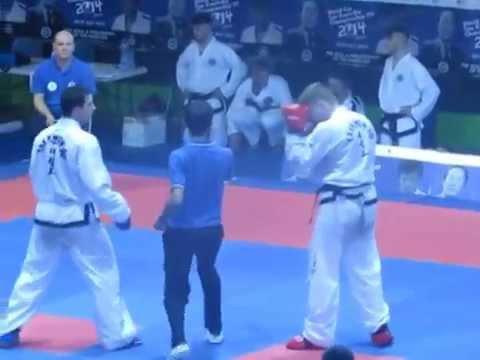 TAEKWON DO ITF CAMPEONATO MUNDIAL ROMA 2014   Combate / Sparring Final Carlos Gutierrez