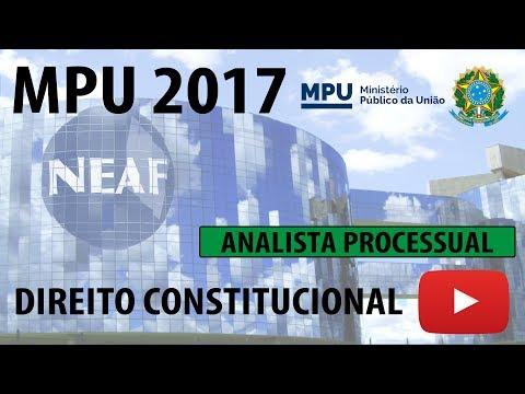 Correção Prova MPU 2013 Analista Processual Direito Constitucional