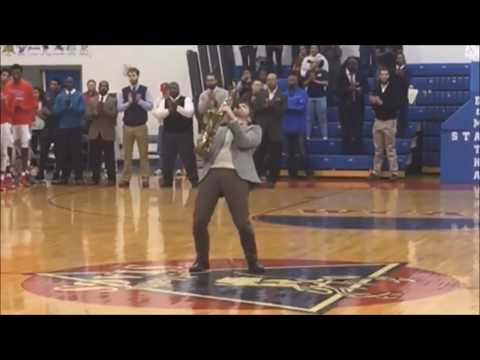 David Tauler '95 playing the National Anthem at DeMatha Catholic High School