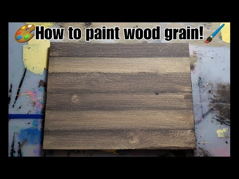 Painting Faux Wood Grain on Canvas with Acrylic Paints