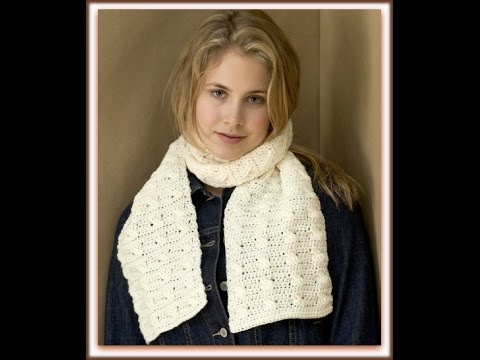 Cable Crochet Scarf Mini Tutorial Youtube