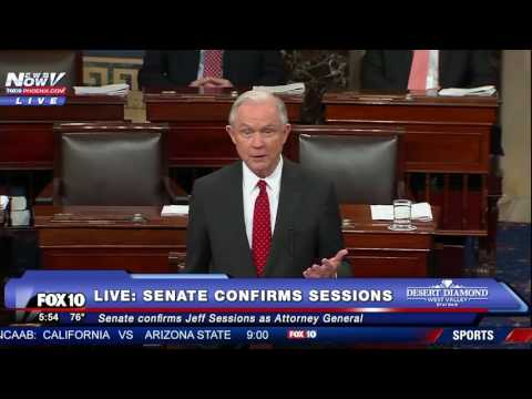 FULL: Jeff Sessions Speech After Senate Confirmation For US Attorney General (FNN)