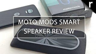 Moto Mods Smart Speaker w/Alexa Unboxing & Review