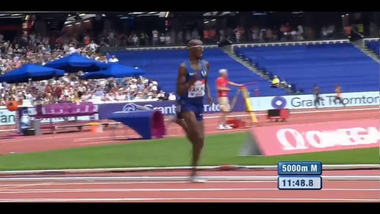 Mo farah 12.59 29 5000 m wl london dl muller anniversary