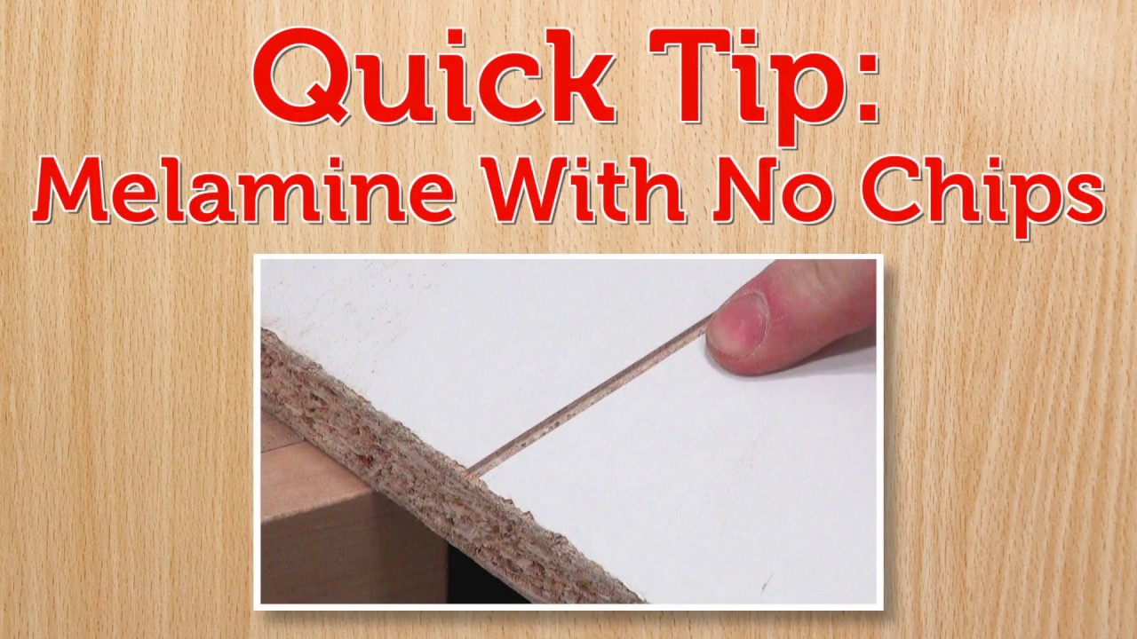 Cut Melamine With No Chips Youtube
