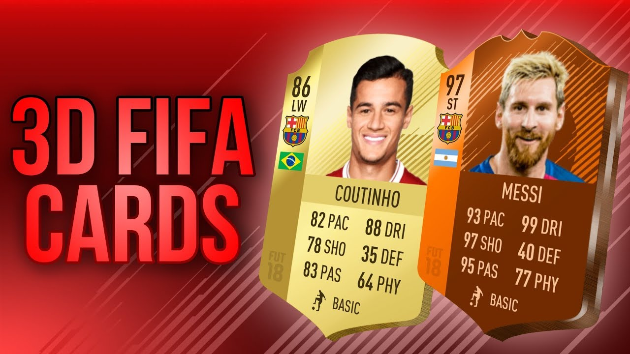 How To Make D Fifa  Cards Photoshop Tutorial No Template