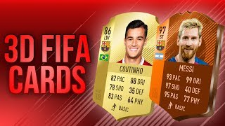 How To Make 3d Fifa 18 Cards Photoshop Tutorial No Template Youtube