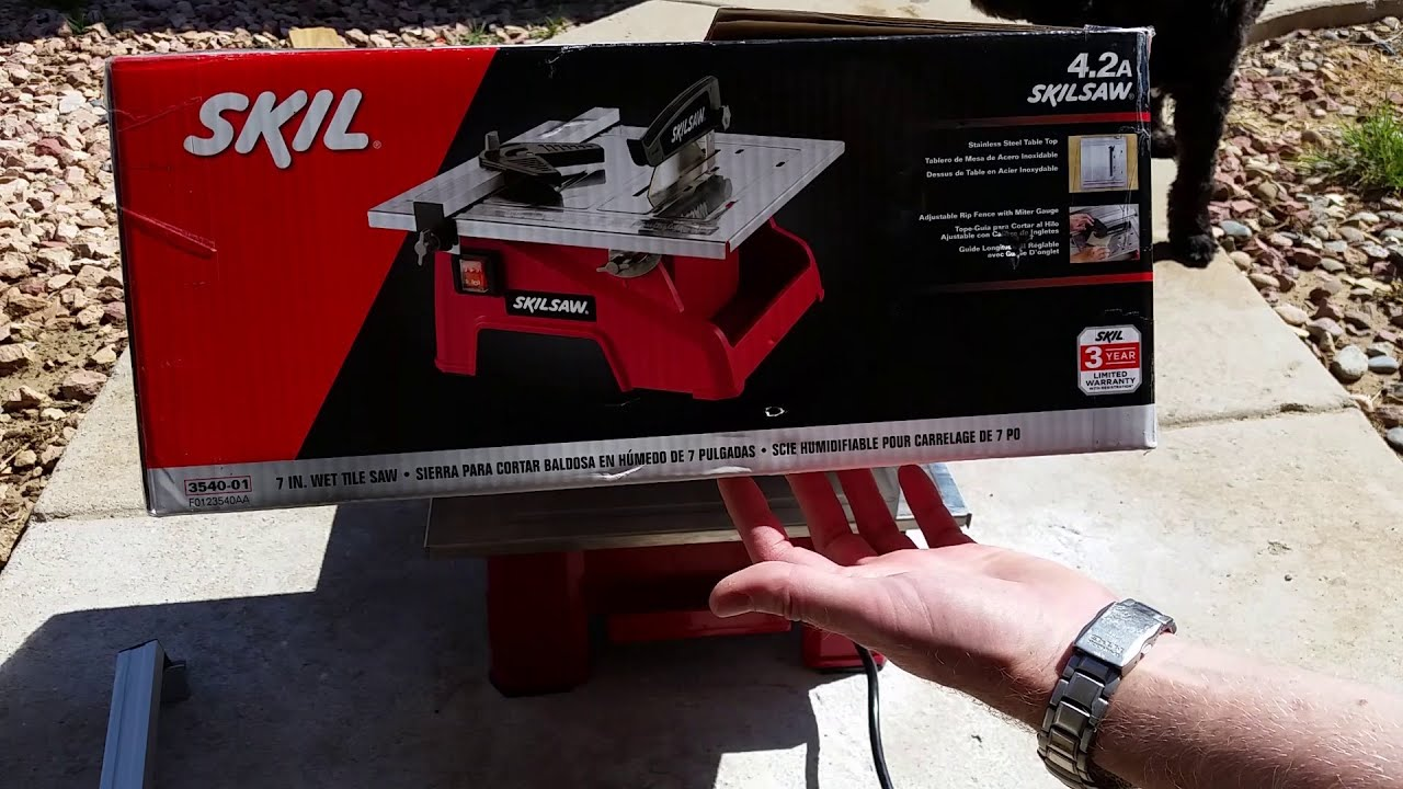 Skil Skilsaw Wet Tile Saw Review