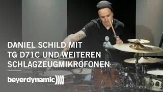 Daniel Schild mit beyerdynamic TG D71c und weiteren Schlagzeugmikrofonen