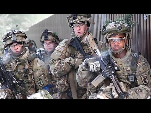 U.S. Army Paratroopers & British Troops Conduct Offensive Operations