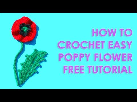 how to make easy poppy flowers
