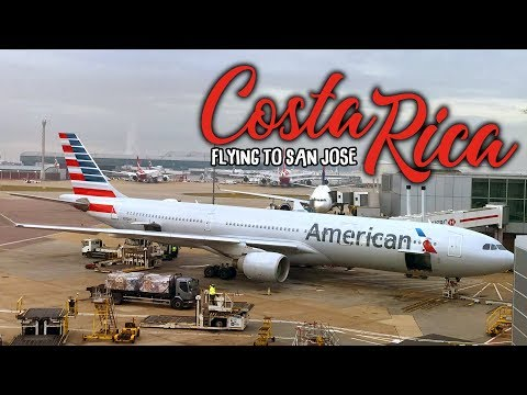 FLYING TO COSTA RICA WITH ANXIETY | AMERICAN AIRLINES LOUNGE EXPERIENCE | AD