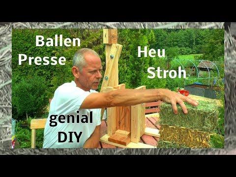 Heu und Stroh Ballen Presse selber bauen Funktionsweise des