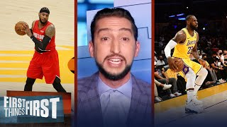 'I love this Melo, Russ \u0026 LeBron combo' —Nick on Lakers' latest trade | NBA | FIRST THINGS FIRST