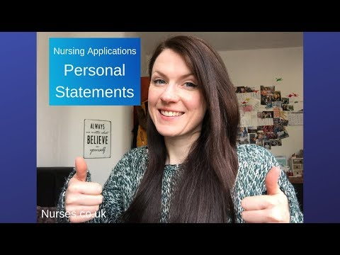 Personal Statement Tips For Nursing Job Applications UK / Supporting Information