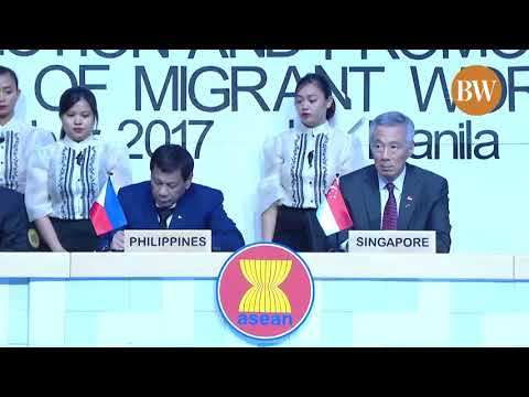 ASEAN members sign the Consensus on the Protection and Promotion of Rights of Migrant Workers