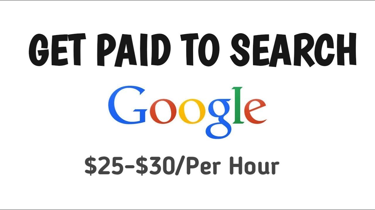 Work From Home - Get Paid To Search Google - 2019