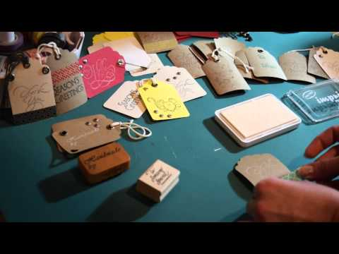 DIY Gift Tags, Scrap Booking, Adding Studs Eyelets to Card Stock