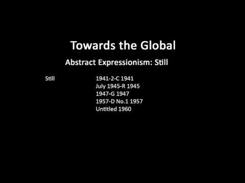 A history of modern art in 73 lectures: lecture 58 (Abstract Expressionism)