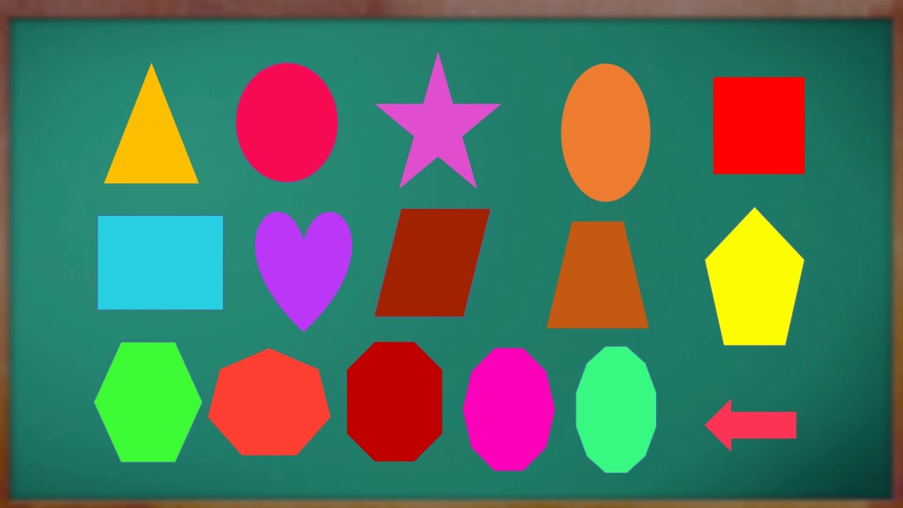 Learn Shapes : Basic Shapes For Kindergarten