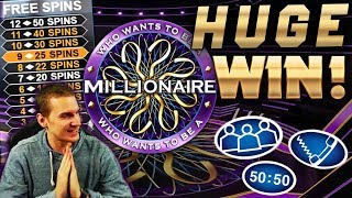 HUGE WIN on Who Wants to Be a Millionaire Slot - £5 Bet