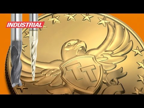 CNC Project: American Bald Eagle 3D Brass Medallion W/Amana Tool Industrial Router Bits/End Mills