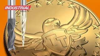 American Bald Eagle 3d Brass Medallion Cnc Project Using Amana Tool Industrial Router Bits/end Mills