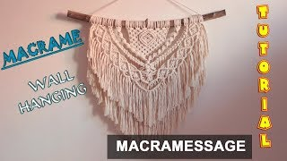 Macrame Wall Hanging Tutorial | Easy Diy For Macrame Beginners