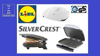 Silvercrest Contact Grill Skg 1000 B2 Unboxing Lidl 1000w Power Ready Youtube