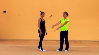 RU | Видео урок 19. Комплекс упражнений с булавами для развития координации