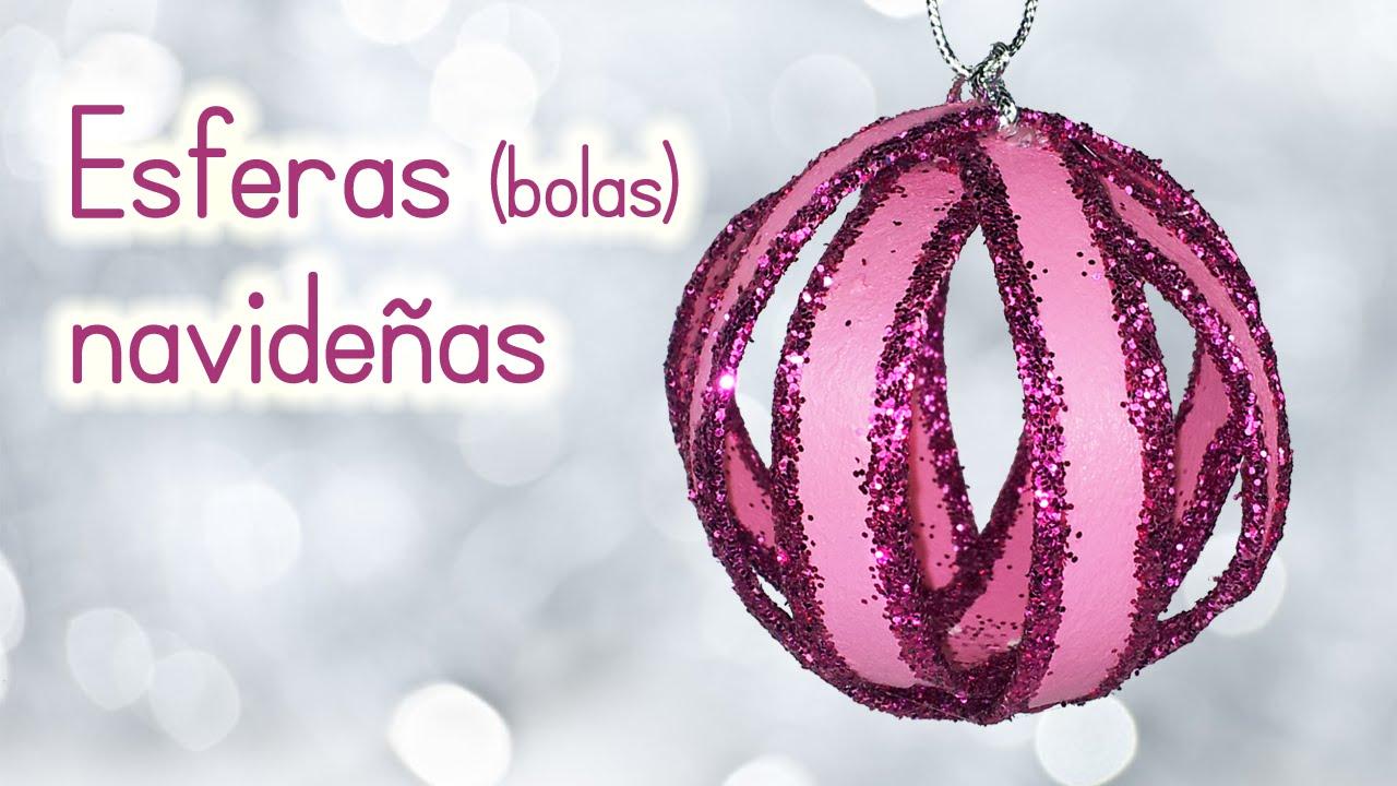 Manualidades para navidad esferas navide as bolas de - Como hacer cosas de navidad ...