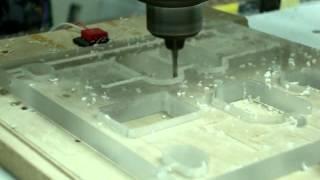 CNC Homemade & Mach3 Сложная конструкция из пластика, последний штрих.(Материал оргстекло 8мм, инструмент 3мм., 2014-01-18T17:04:18.000Z)