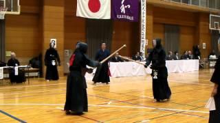 一瞬で竹刀を納めるテクニック 足立区都予選 六段以上の部 手拭い王子 2回戦