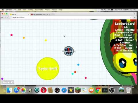 Tyler Brazill Live Stream/agario ep 1 lets take over together