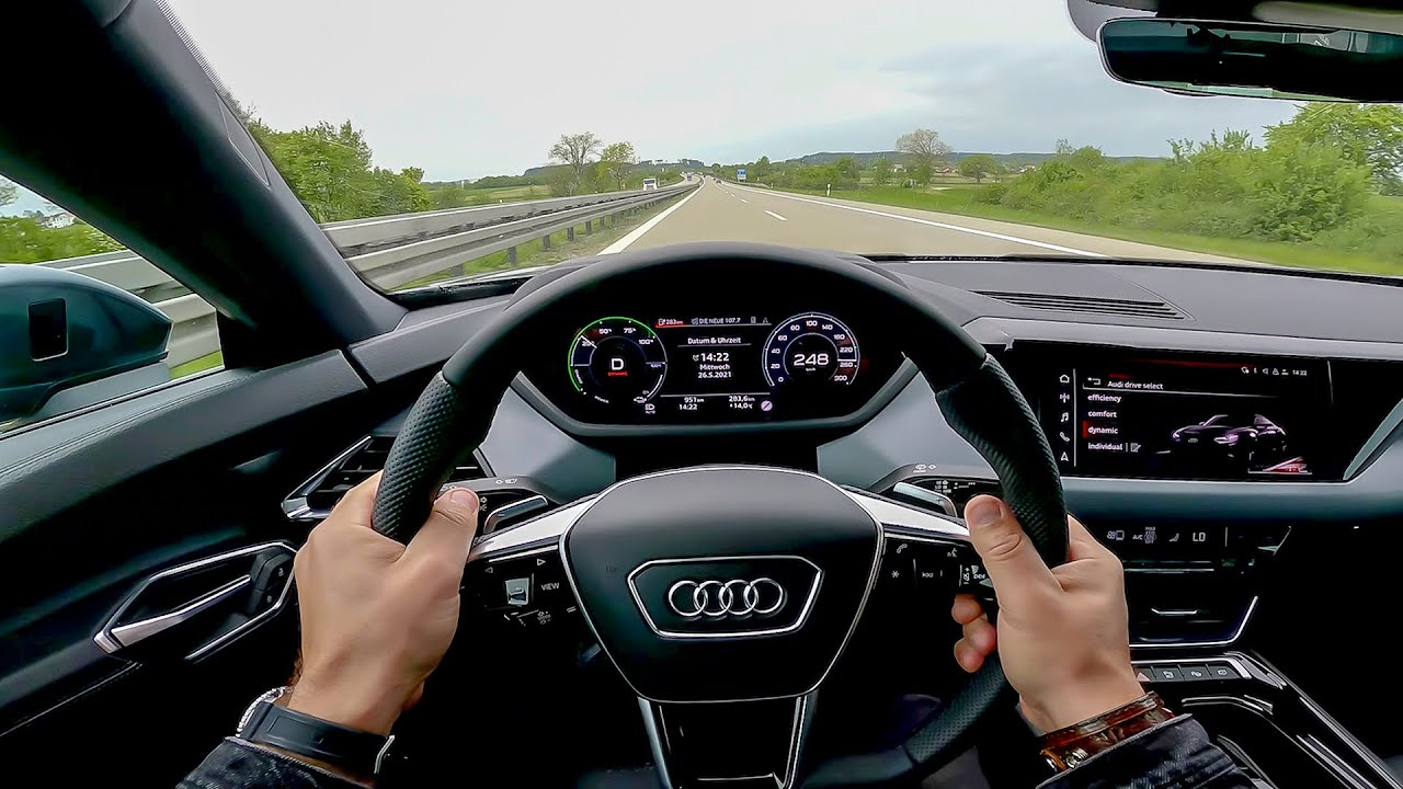POV: top speed in the full electric Audi E-Tron GT