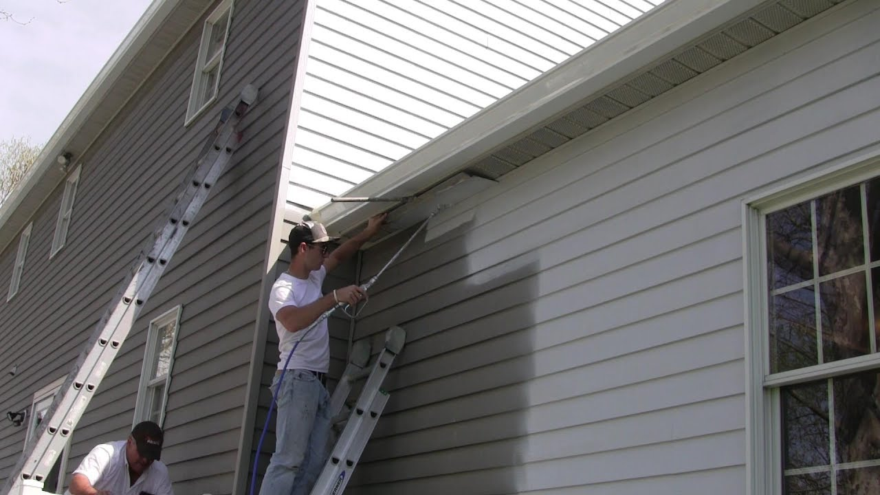 A close up look at painting aluminum siding youtube - How to clean house exterior before painting ...
