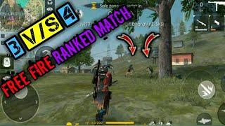 Free Fire Ranked Mode 3vs4  10Kills Booyah    Kishor Tech And Gaming  