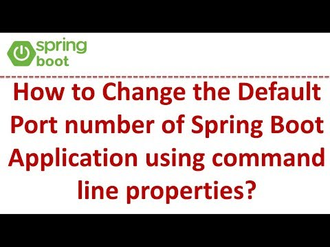 How to Change the Default Port Number of Spring Boot