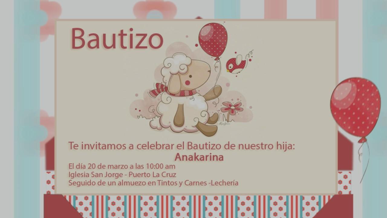Tarjeta De Invitación Animada Bautizo 3d Youtube